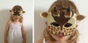 masque girafe pour se déguiser