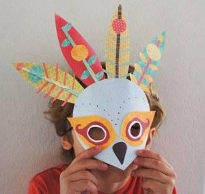 masque et plumes pour mardi gras