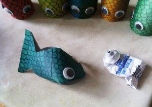 créer un poisson d'avril recyclé