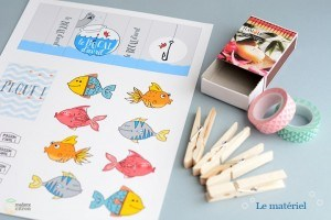 materiel pour créer un poisson d'avril