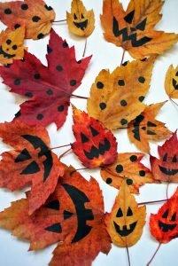 feuilles d'automnes Halloween ausylphi