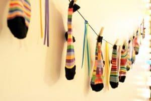 chaussettes suspendues pour Noel