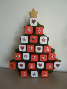Calendrier de Noel en forme de sapin