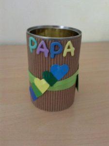 pot à crayon - idée cadeau fête des pères