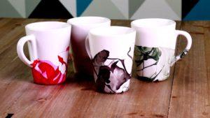 mugs avec du vernis