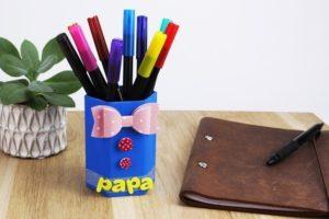 Pot à crayons personnalisé papa