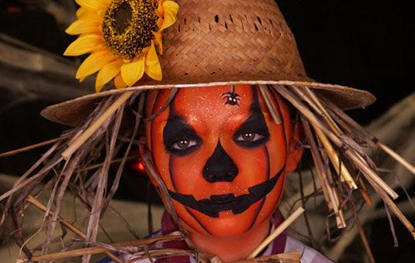 maquillage citrouille Halloween