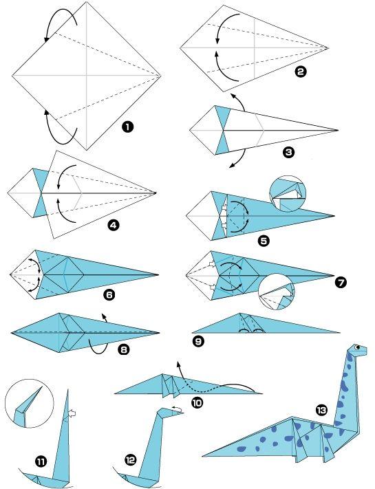 dinosaure en origami